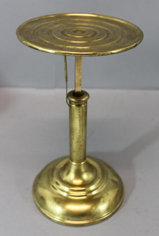 Rare Antique 1878 Brass L.  E.  Browns Apothecary Pharmacy Postal Candlestick Scale photo
