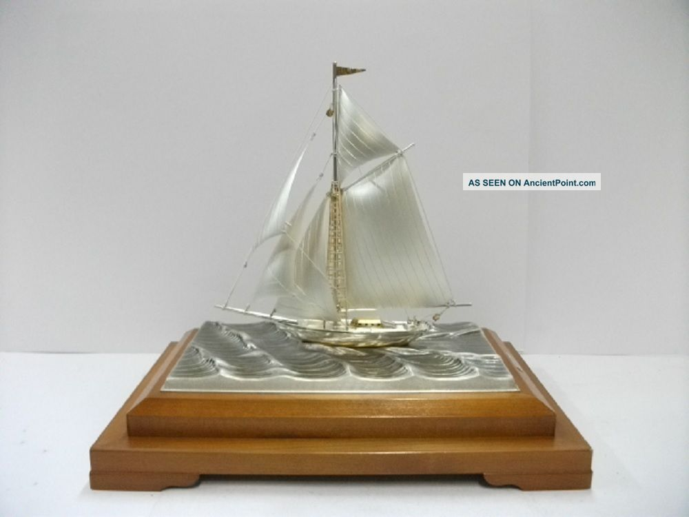 The Sailboat Of Silver985 Of Japan.  102g/ 3.  59oz.  Takehiko ' S Work. Other Antique Sterling Silver photo