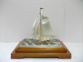 The Sailboat Of Silver985 Of Japan.  102g/ 3.  59oz.  Takehiko ' S Work. photo