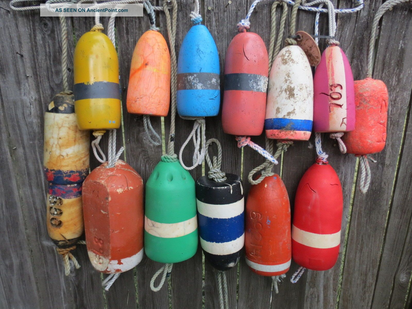 (2404) 14 Dungeness Crab Pot Buoys Net Floats Bouys Lobster Shrimp Crawfish Fishing Nets & Floats photo
