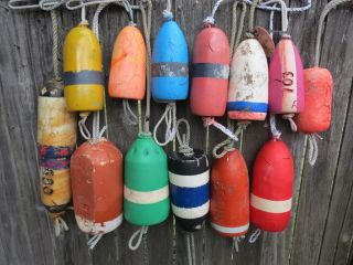 (2404) 14 Dungeness Crab Pot Buoys Net Floats Bouys Lobster Shrimp Crawfish photo