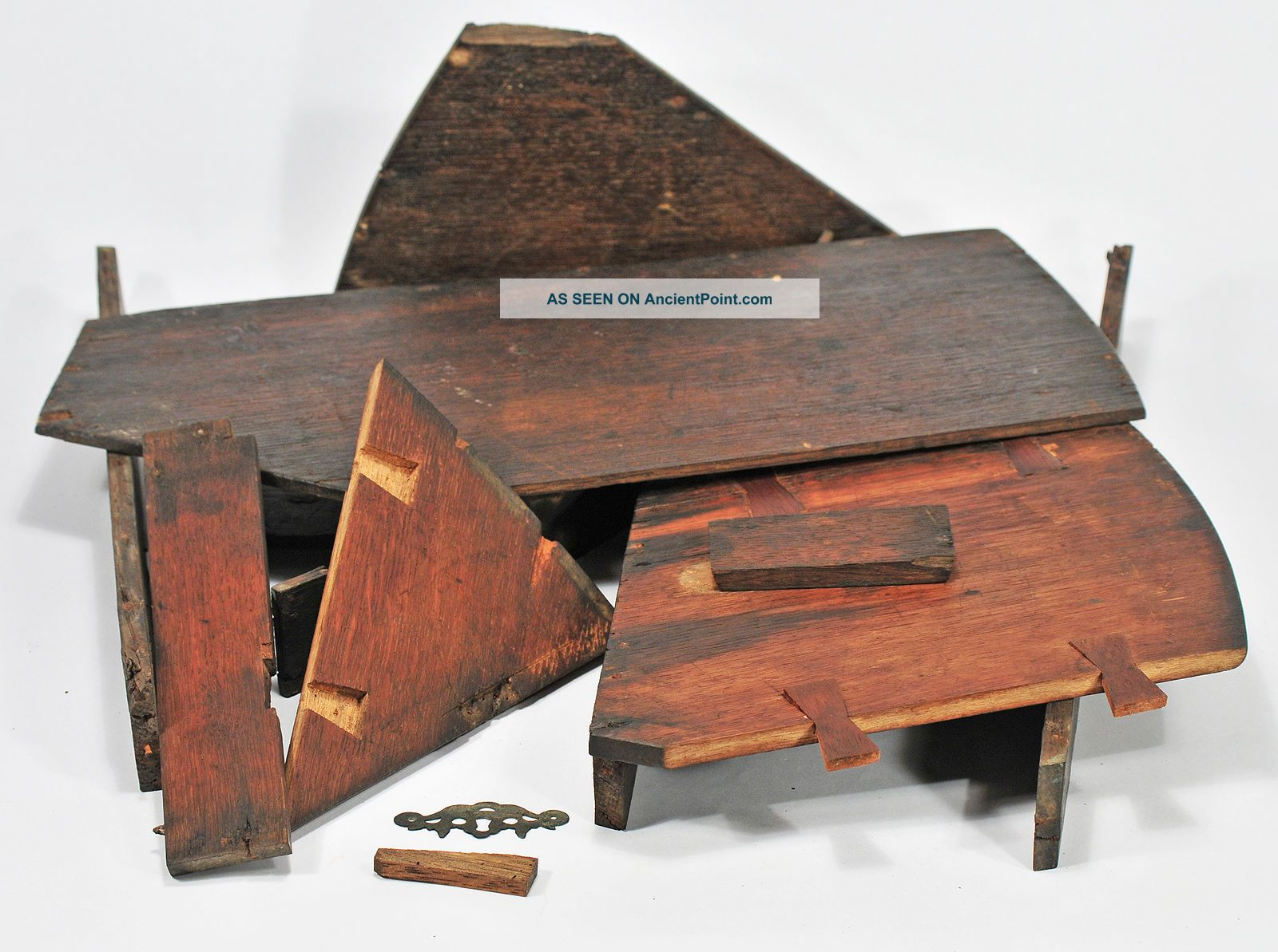 Antique Octant Box - Restoration Project Or Spare Parts Other Maritime Antiques photo