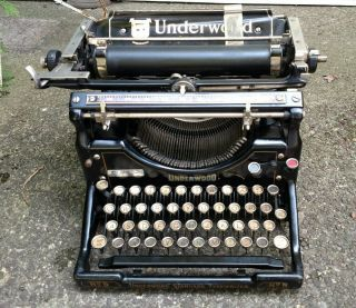 Antique Underwood No.  5 Standard Typewriter Usa Needs Work photo