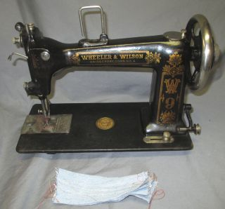 Serviced Antique Wheeler & Wilson No.  9 D9 W9 Treadle Sewing Machine Video photo