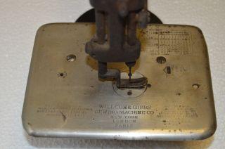 1894 Antique Willcox & Gibbs Chain Stitch Sewing Machine 1890 ' S photo