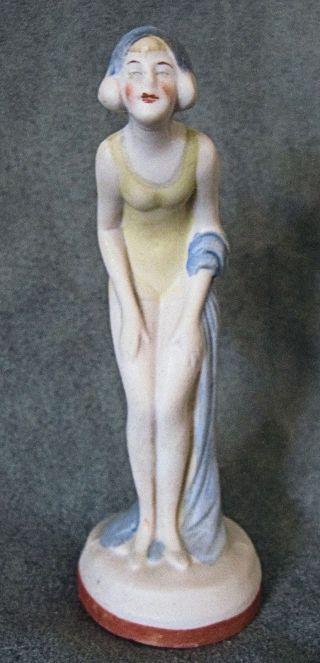 Art Deco Limbach Porcelain Standing Flapper Era 4