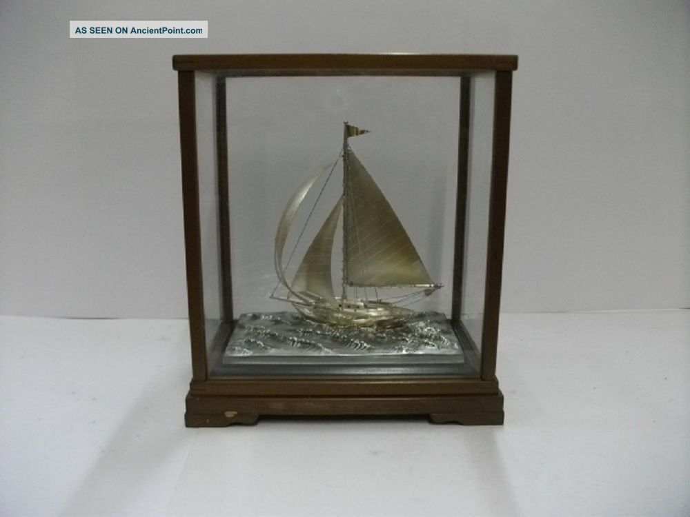 The Sailboat Of Silver Of The Most Wonderful Japan.  80g/ 2.  82.  Japanese Antique Other Antique Sterling Silver photo