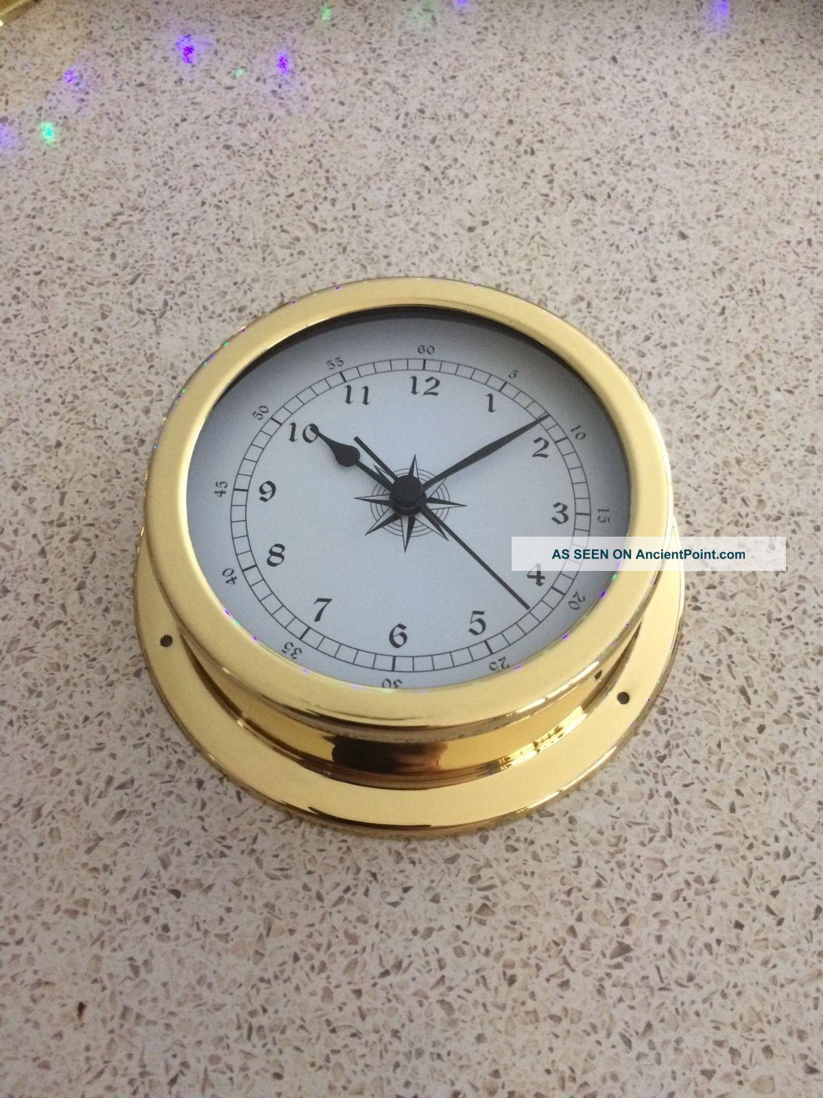 145mm Brass Clock. Ship Equipment photo