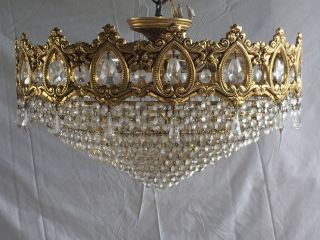 Crystal Chandelier,  Antique,  Stunning,  Brass,  French/spanish/italian (108) photo