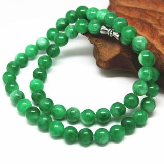 Chinese Hand - Carved Natural Jadeite Jade Necklace photo
