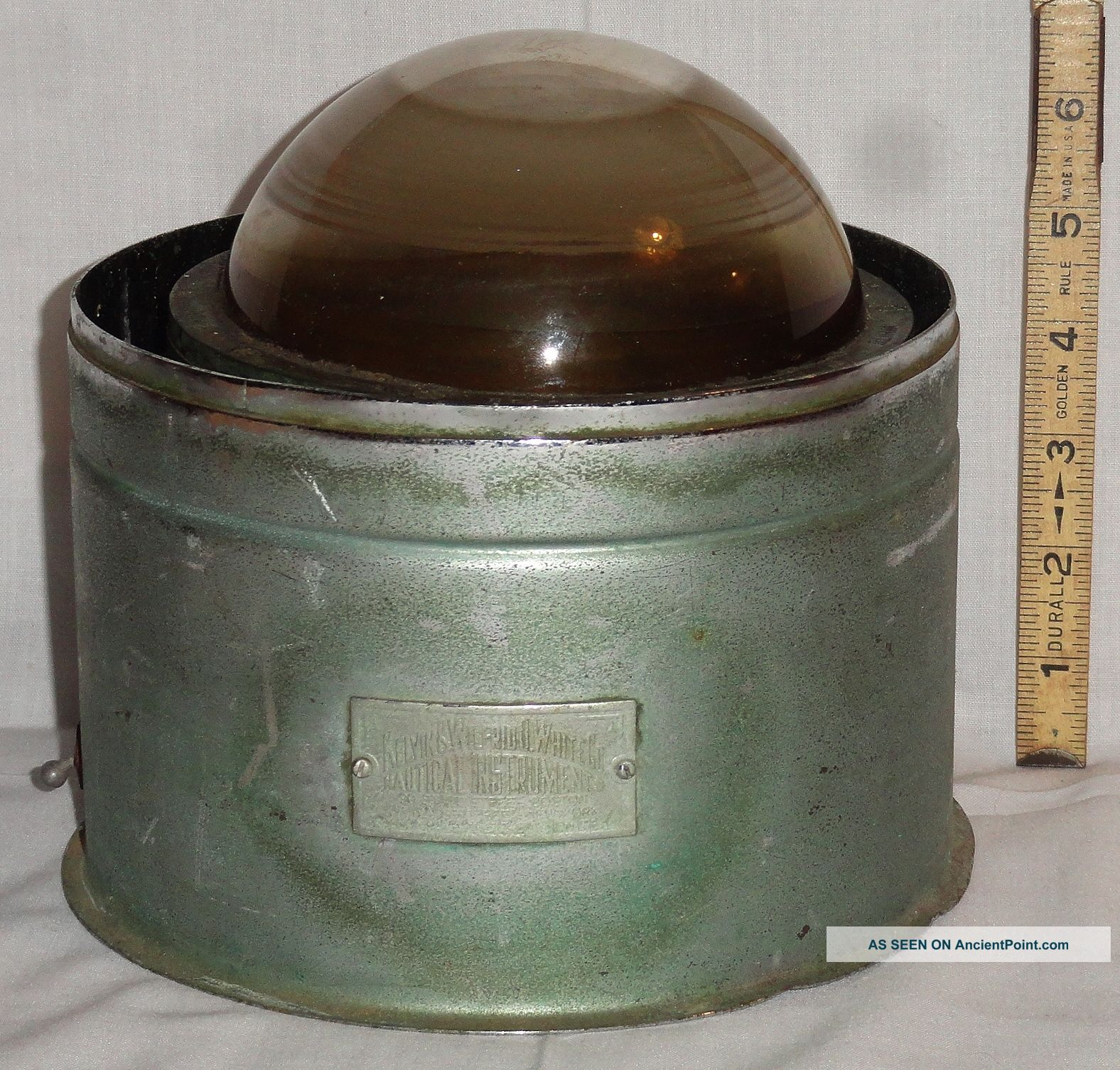 Antique Kelvin & Wilfrid Wilfred O White Binnacle Spherical Compass Restore Part Compasses photo