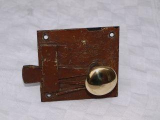 2 Antique Reclaimed Brass Door Handles Knobs Pulls In Old Metal Lock photo