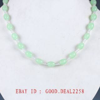100 Natural Jade Handmade Exquisite Necklaces Xl085 photo