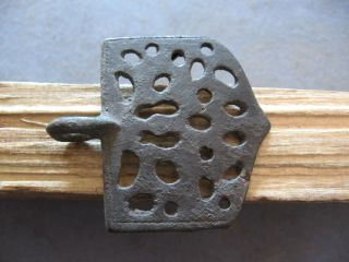 Openwork Rare Belt Buckle Ancient Celtic Bronze Warriors Decoration 300 - 100 B.  C. photo