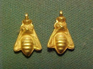 Roman/sassanian Solid Gold Bee Amulet Circa 200 - 400 Ad. photo