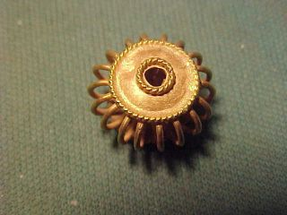 Sassanian Solid Gold Spiral Bead Circa 224 - 642 Ad. photo