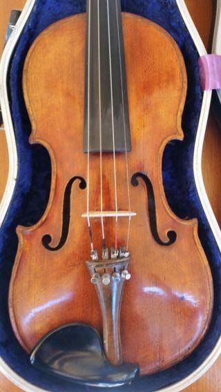 Antique Italian Labeled Violin Ioannes Tononus Fecit Bononae 1708 photo