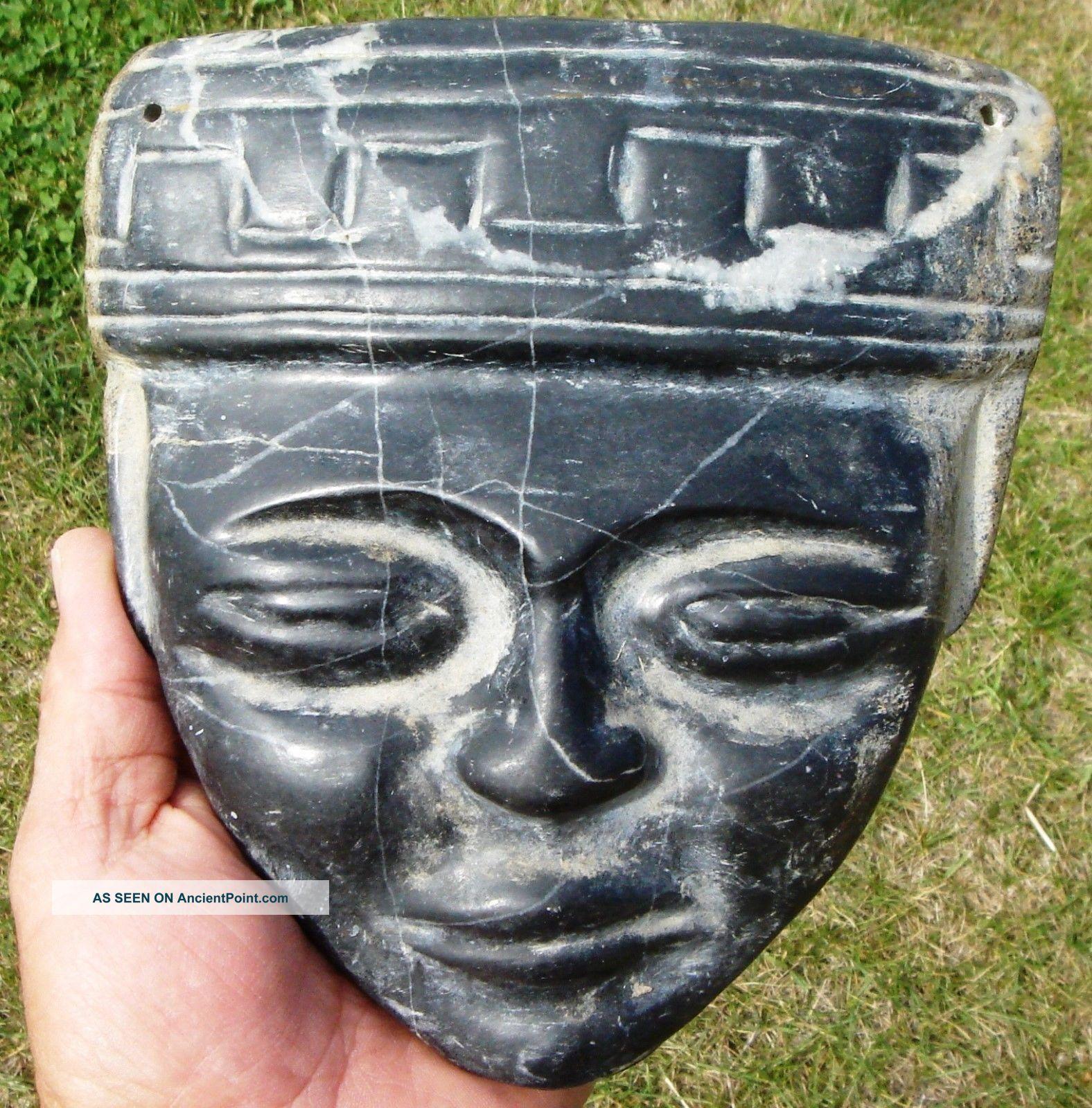 Stone Mask: Yucatan,  Mid - 19th Century Discovery Latin American photo