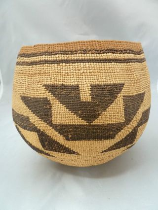 Native American Hupa Basket Bowl Design.  Approx 7