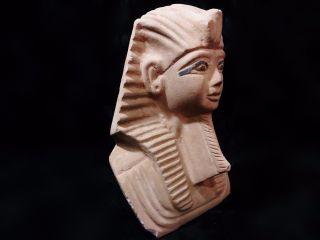 Rare Huge Ancient Egyptian Tutankhamun Sand Mask 1332–1323 Bc photo