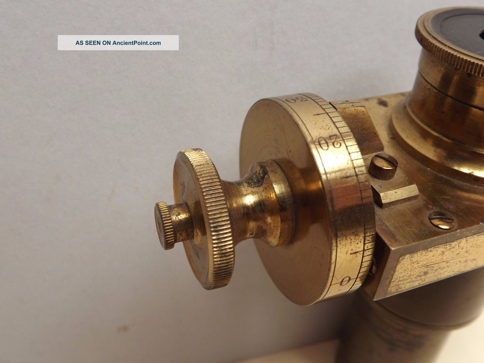 Microscope { Micrometer } Eyepiece [ Brass ] C1860 { } Finish Other Antique Science Equip photo
