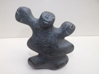 Mid 20th Century Inuit Contemporary Tribal Sculpture With Initials To The Base photo
