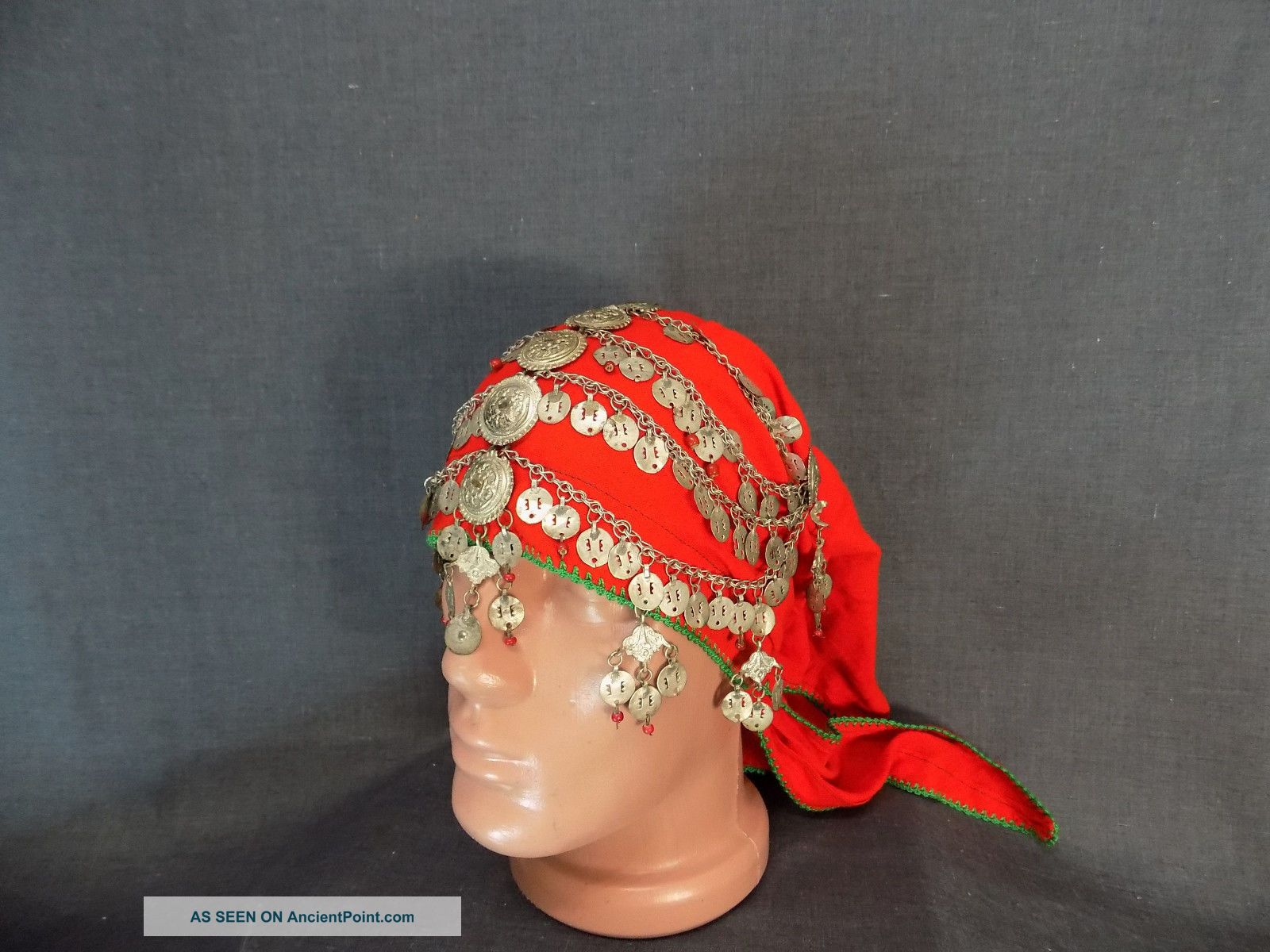 Antique Rare Vintage Macedonian Mijak Bride Head`s Decoration (igla) - Galichnik Other Ethnographic Antiques photo