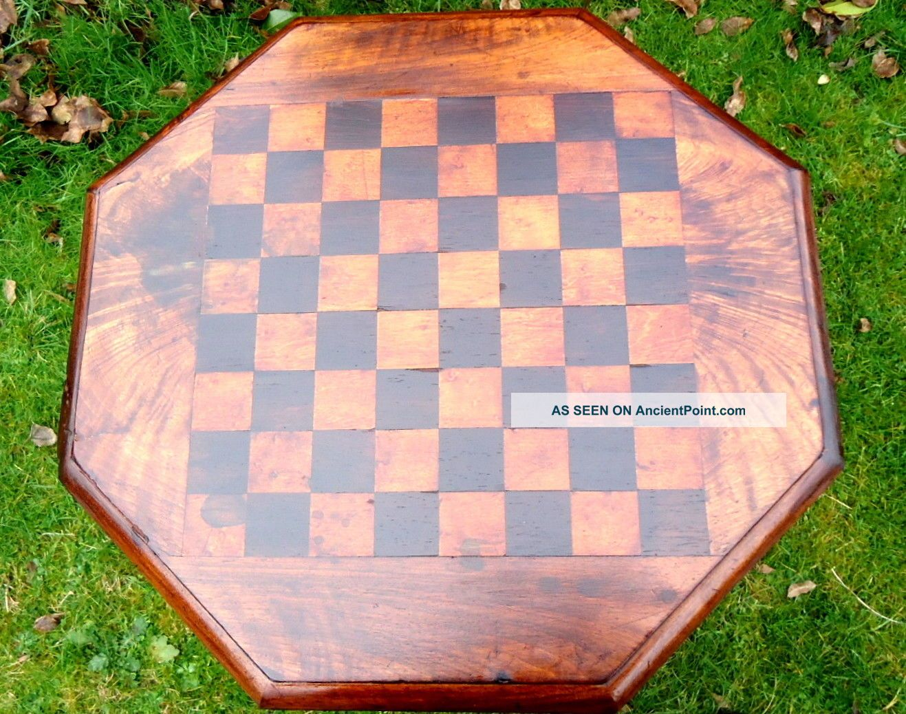 Regency.  Games Table With Octagonal Top.  Chess Or Draughts.  C1790 - 1830. Pre-1800 photo