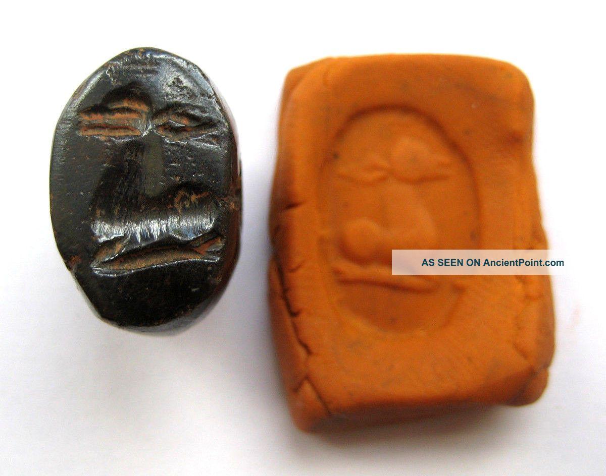 Circa.  400 A.  D Sassanian Empire Zoomorphic Pirite Seal Matrix - Elk Detail Near Eastern photo