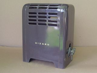 Vintage Wizard Western Auto Gas Room Heater Brown Porcelain Enamel Space Bath photo