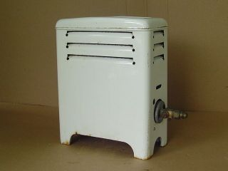 Vintage Martin U - 4510 Gas Room Heater White Porcelain Enamel Bathroom Space photo