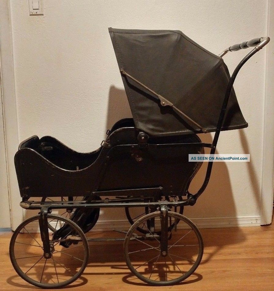 Antique C.  1920 Allwin Baby Infant Carriage Buggy Stroller Pram Convertible Rare Baby Carriages & Buggies photo