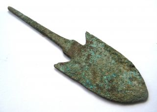 Large Circa.  500 - 300 B.  C Ancient Greece Bronze Arrow Head photo