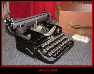 Great Folding Erika 4 Typewriter 1920s;small Script Font (video,  Pictures Inside) photo
