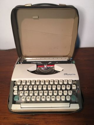 Vintage Portable Olympia Typewriter photo