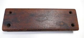 1920 ' S Ludwig Deagan Piccolo Woodblock 142 Large 6in.  Rosewood Block photo