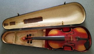Antique Germany Giovan Paolo Maggini Violin Full Size 4/4 With Wooden Case Nr photo
