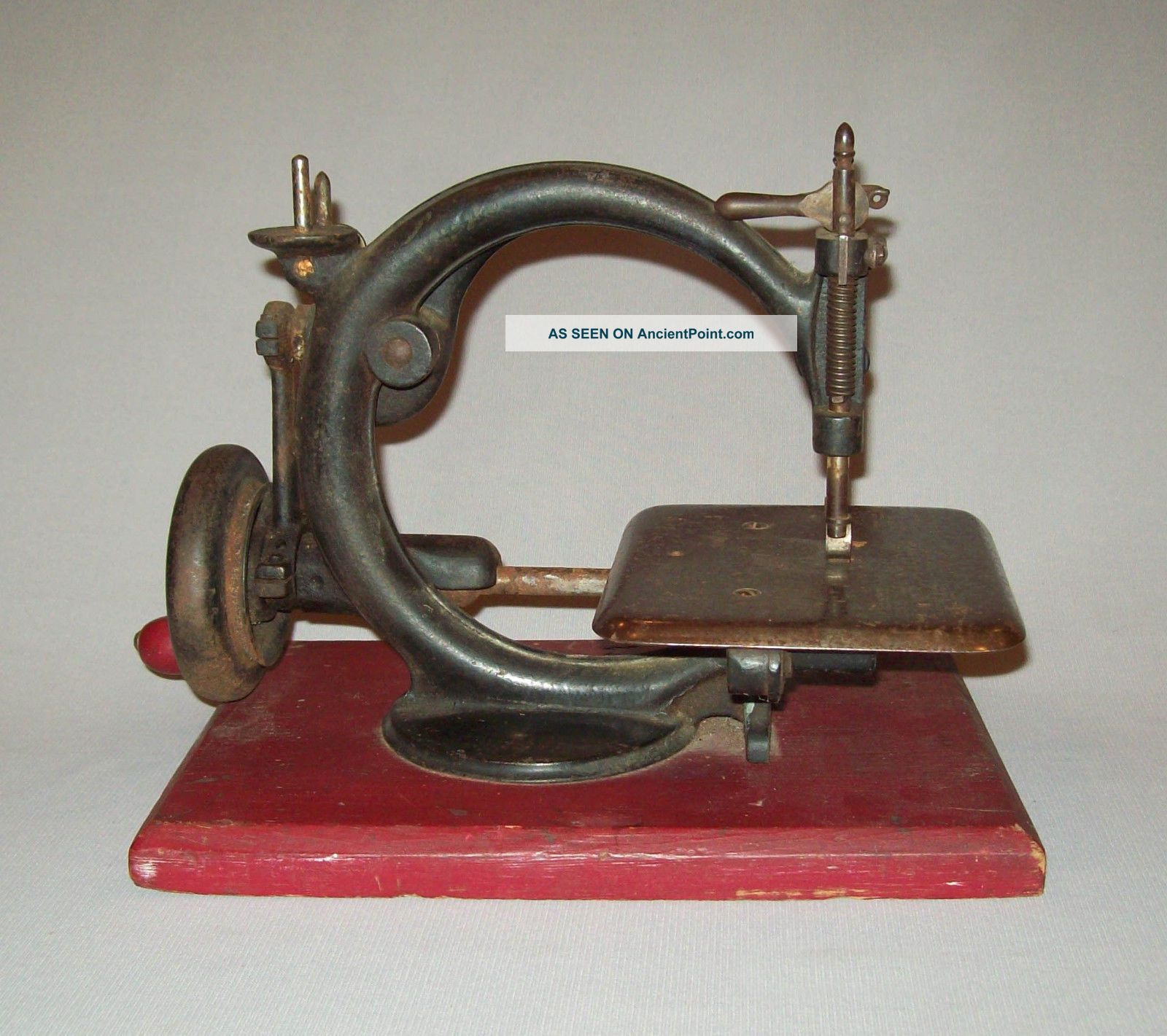 Old Antique Vtg Sewing Machine Patd 1864 Willcox And Gibbs Hand Crank Unrestored Sewing Machines photo