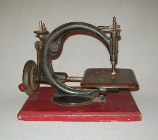 Old Antique Vtg Sewing Machine Patd 1864 Willcox And Gibbs Hand Crank Unrestored photo