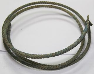 Ancient Viking Twisted Bronze Neck Torc Double Neck Torc 300 Gr photo