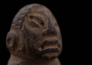 Pre Columbian Carved Stone Figurine - Antique Statue - Olmec Mayan photo