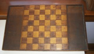Old Folk Art Wooden Checkerboard Circa 1880s – 1890s Rare photo