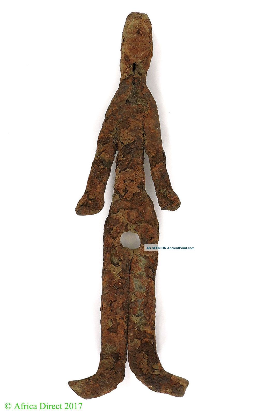 Bamana Figurine Rusted Iron Miniature Mali African Art Was $95 Other African Antiques photo