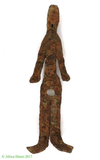 Bamana Figurine Rusted Iron Miniature Mali African Art Was $95 photo
