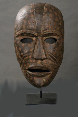 Authentic Large African Woyo Mask,  Very Scarce photo