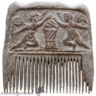Intact,  Hand Made Carved Post Medieval Mammoth B0ne Comb photo