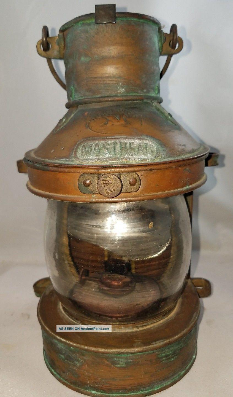 Vintage Tung Woo Masthead Ship Lantern Lamps & Lighting photo