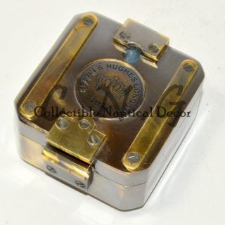 Kelvin & Hughs London 1917 Vintage Brass Brunton Compass 2.  5 Inch photo