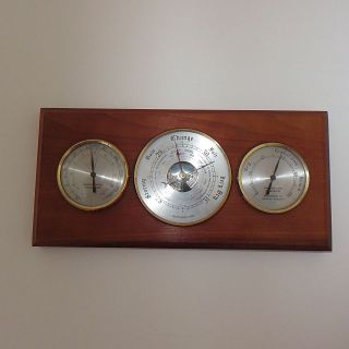 A ' Weathermaster ' Wall Barometer & Thermometer photo