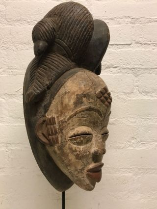 Gabon: Tribal Old African Female Mask From The Punu - 33 Cm. photo